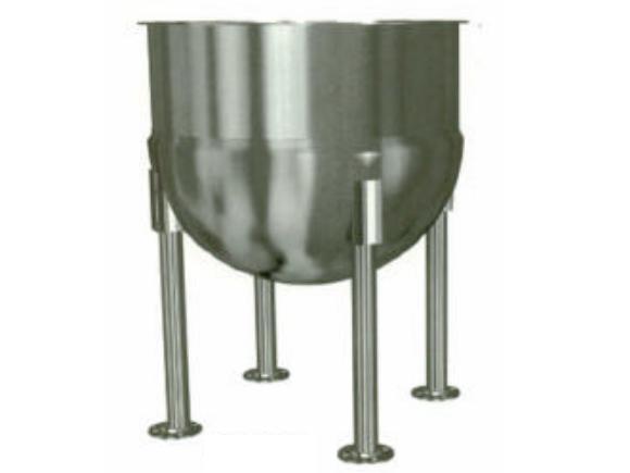 Small Hemispherical Stainless Steel Tank