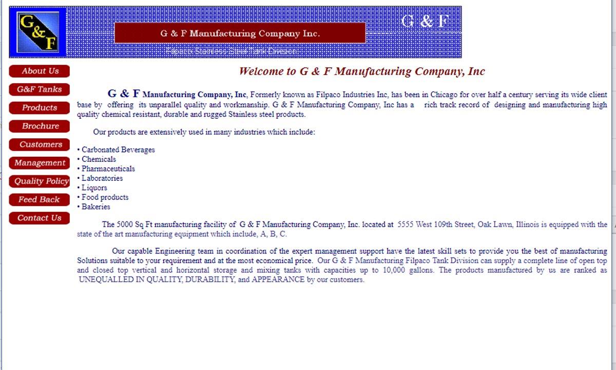 G & F Manufacturing Company, Inc.