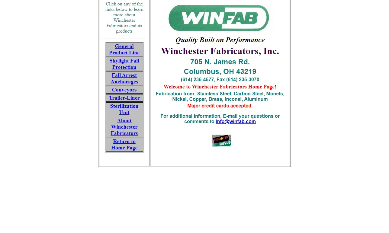 Winchester Fabricators, Inc.