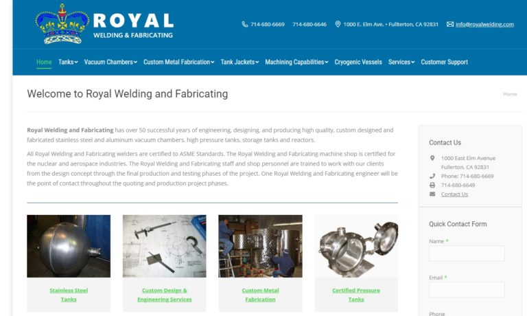 Royal Welding & Fabricating, Inc.